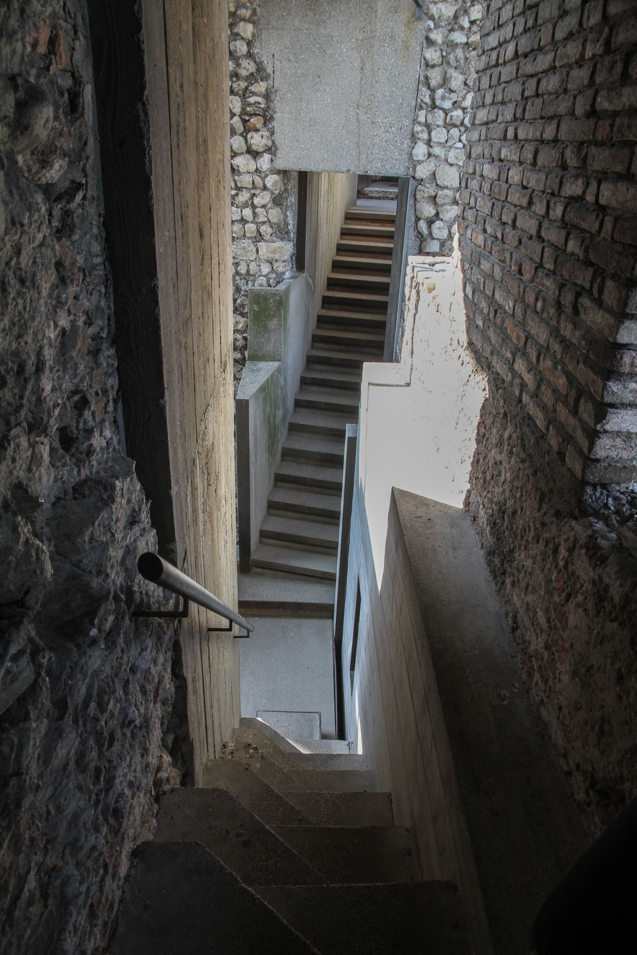 The Most Stunning Hidden Staircase At Castelvecchio Museum