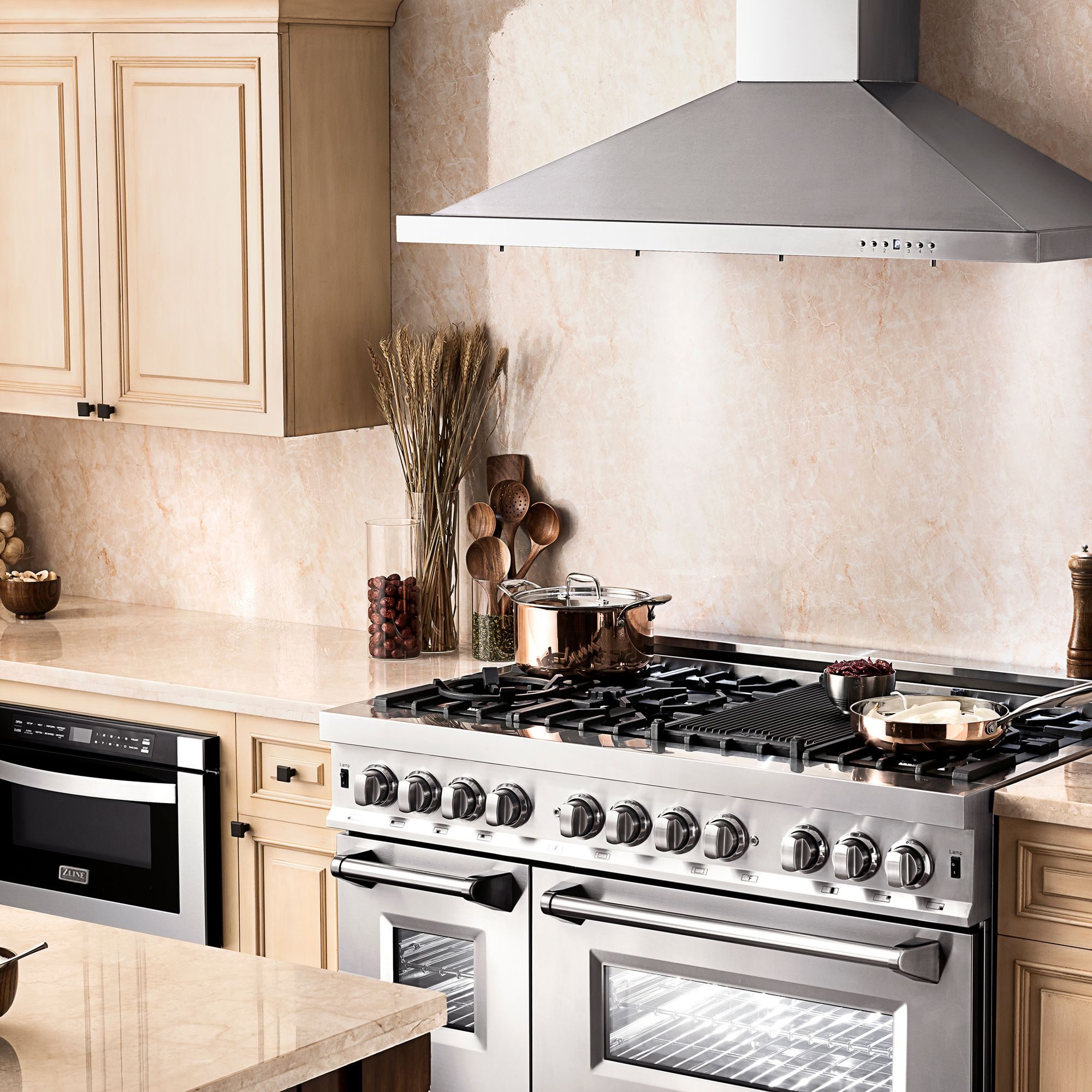 Zline 48 In Wall Mount Range Hood In Stainless Steel Kb 48 Range Hood Wall Mount Range Hood Kitchen Appliance Packages