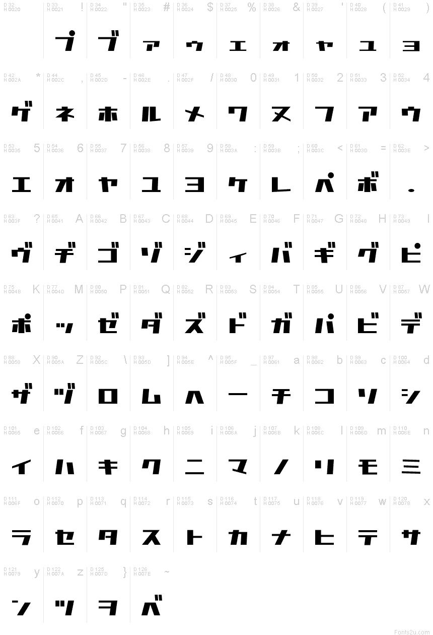 D3 Factorism Katakana font | Geometric Typography | Fonts