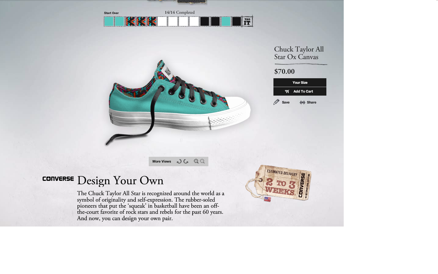design your own converse!