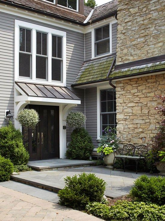 Back Door Awning House Exterior Exterior House Colors