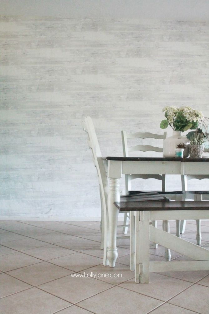 Faux Wood Wallpaper Walls Republic Review Farmhouse Dining RoomsFarmhouse