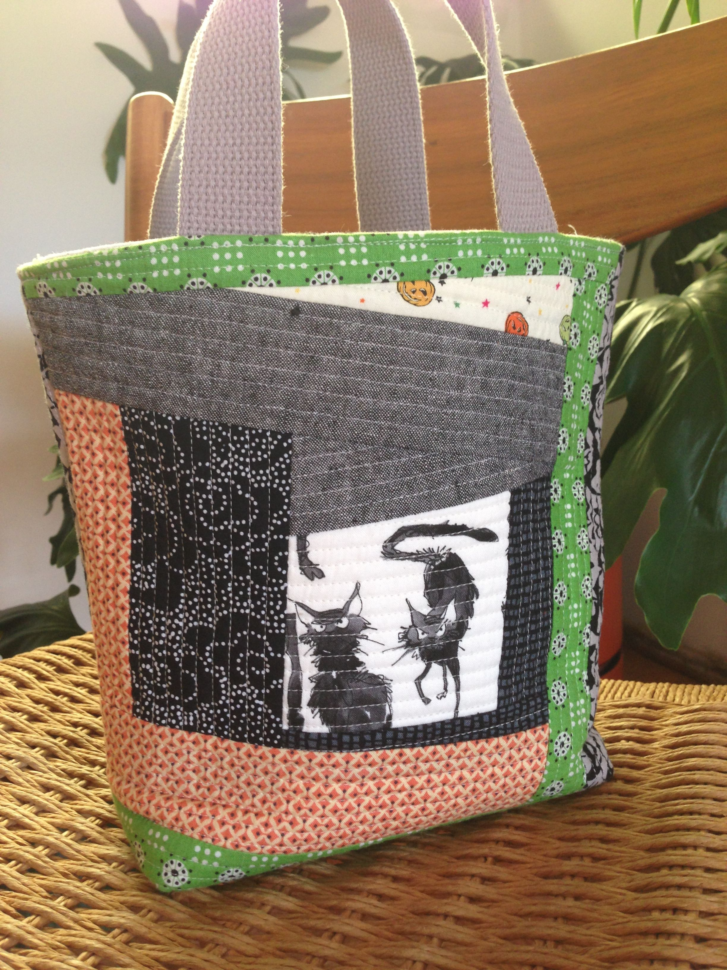 sewkatiedid/quilt as you go trick or treat bag