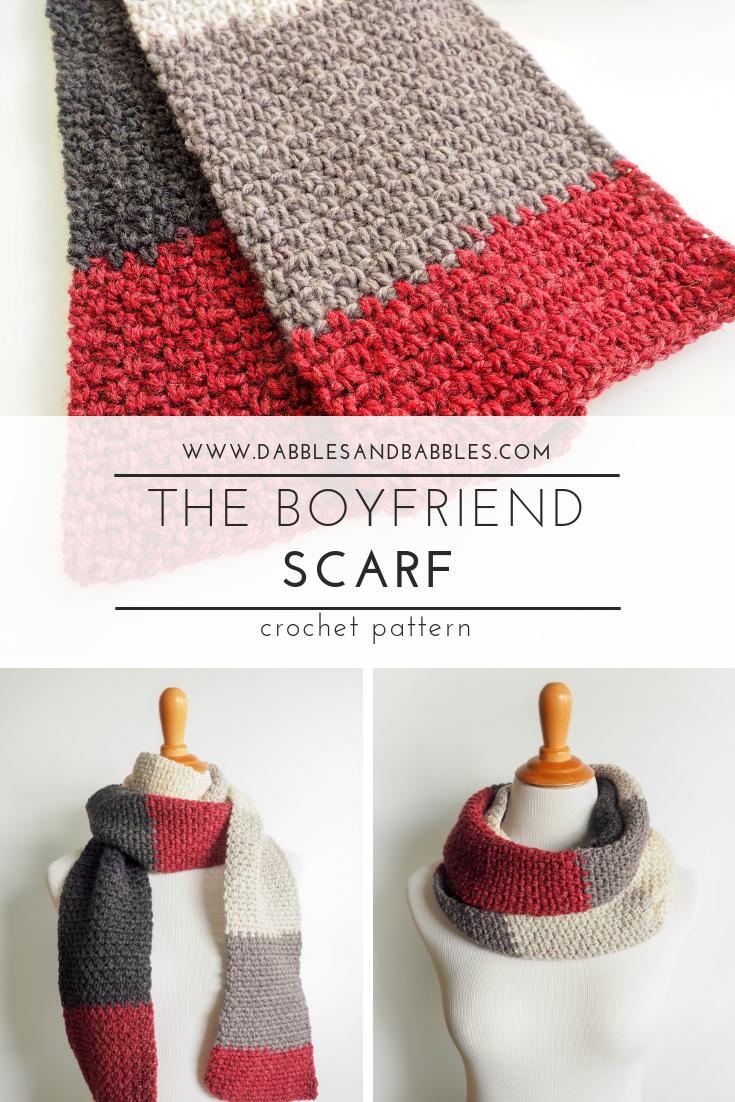 The Boyfriend Scarf Crochet Pattern Crochet For Beginners Breien