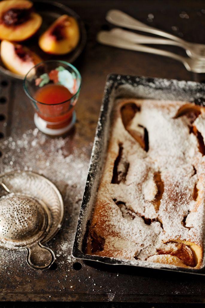 Fotografia de comida e uma receita de clafoutis de nectarina | la casa sin tiempo