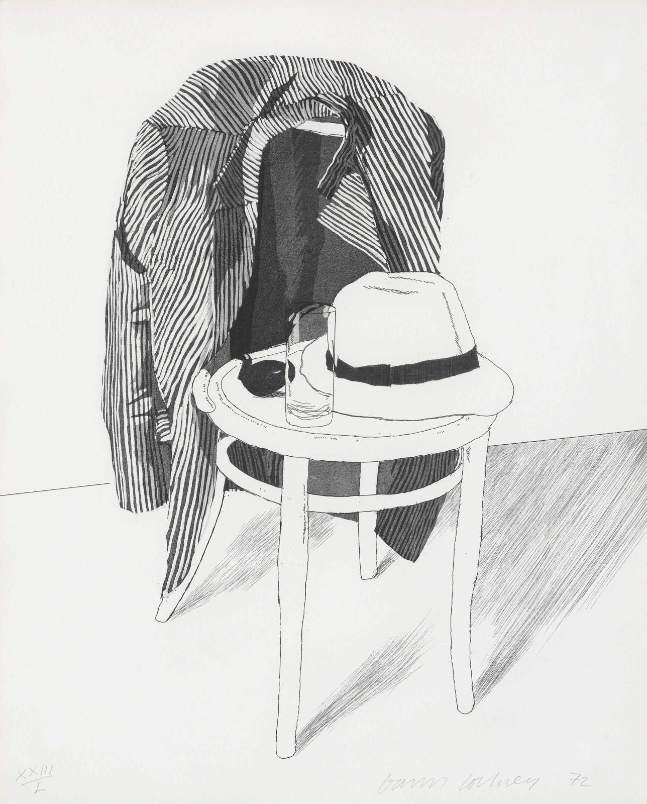 David Hockney (1937-) Panama Hat 1972 (418 x 338 mm)