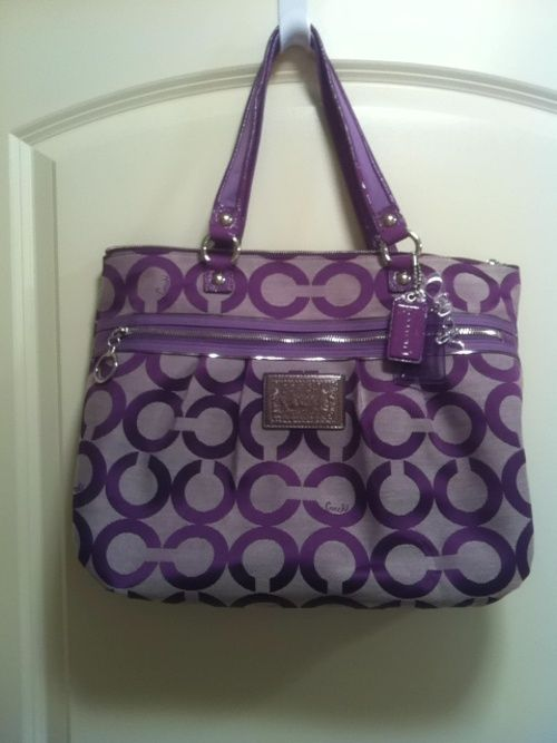 purple coach purse | Found on threadflip.com