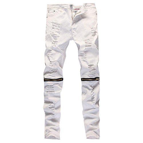 White ripped jeans amazon