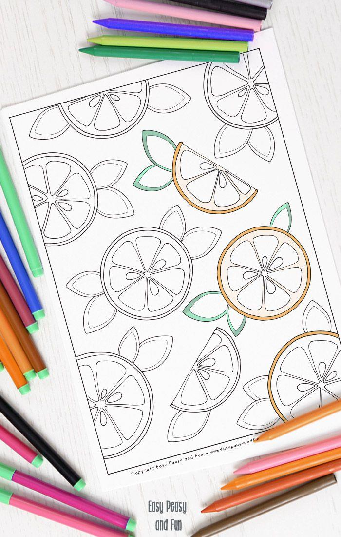 Oranges Coloring Page