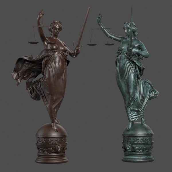3ds Max Lady Justice Statue Lady Justice Statue Justice Statue Lady Justice