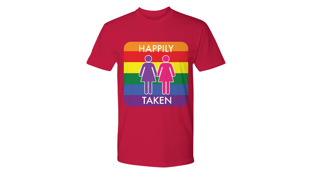 Same Love LGBT Tee Happily TakenLimited Time OnlyThis itemis NOT available in stores.Guaranteed safe checkout:PAYPAL | VISA | MASTERCARDClickBUYIT NOWTo Order Yours!(100% Printed, Made, And Shipped From The USA) https://www.gearbubble.com/gbstore/lgbtessentials