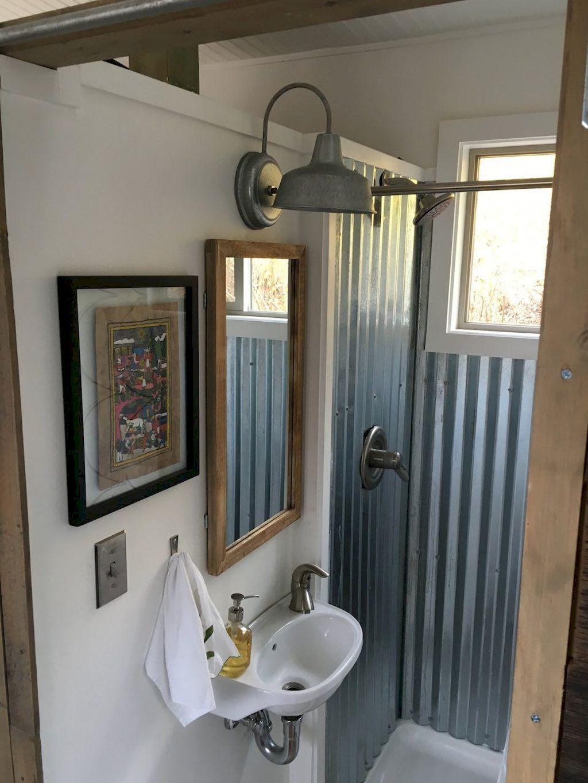 60 Genius Tiny House Bathroom Shower Design Ideas Tinyhousebathroom Diy Tiny House Cheap Tiny House Tiny House Bathroom