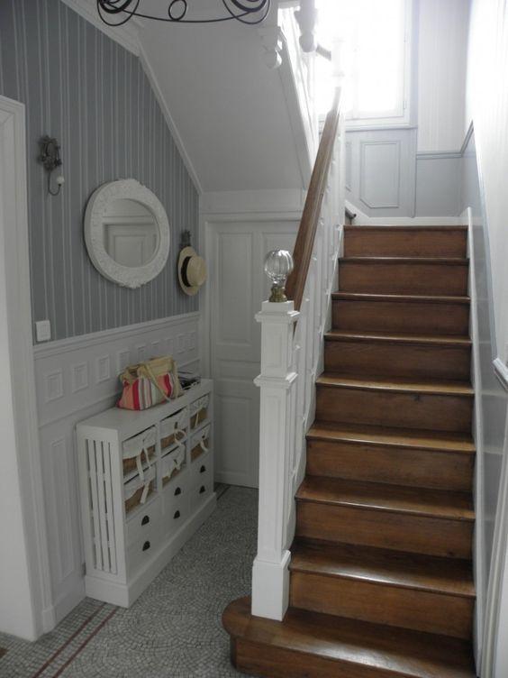 belle déco entrée avec escalier en 2019   Escaliers maison ...