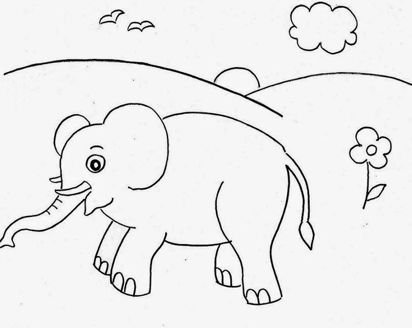 Binatang Untuk Mewarnai Dengan Gambar Seni Tradisional Buku