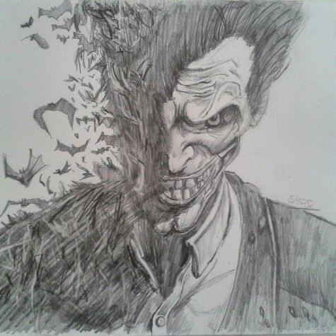 Arkham Joker Drawings In Pencil Just finished j...