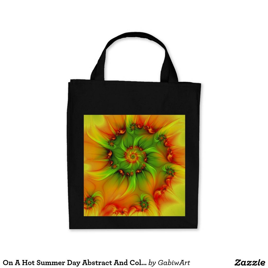 On A Hot Summer Day Abstract And Colorful Fractal Tote Bag