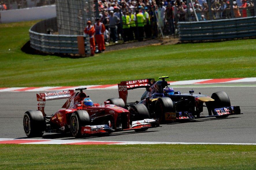 Alonso and Ricciardo, Silverstone 2013