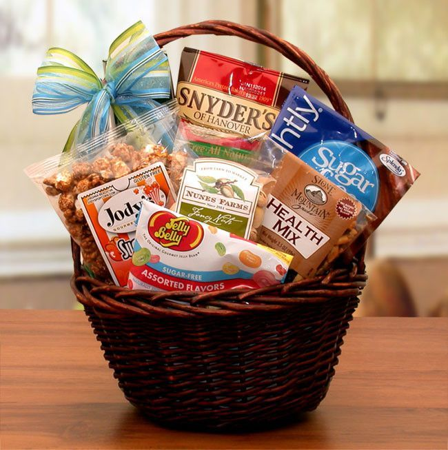 Mini sugar free gift basket to be includes and giftss delicious yet healthy this truly sugar free gift basket is sure to be appreciated the negle Image collections