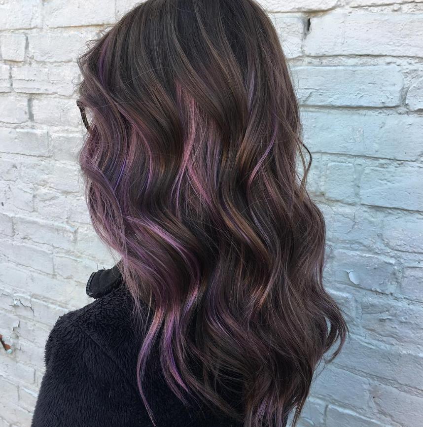 15 Fantastic Purple Hairstyles Pretty Designs Purple Hair Tips Hair Styles Hair Color Purple