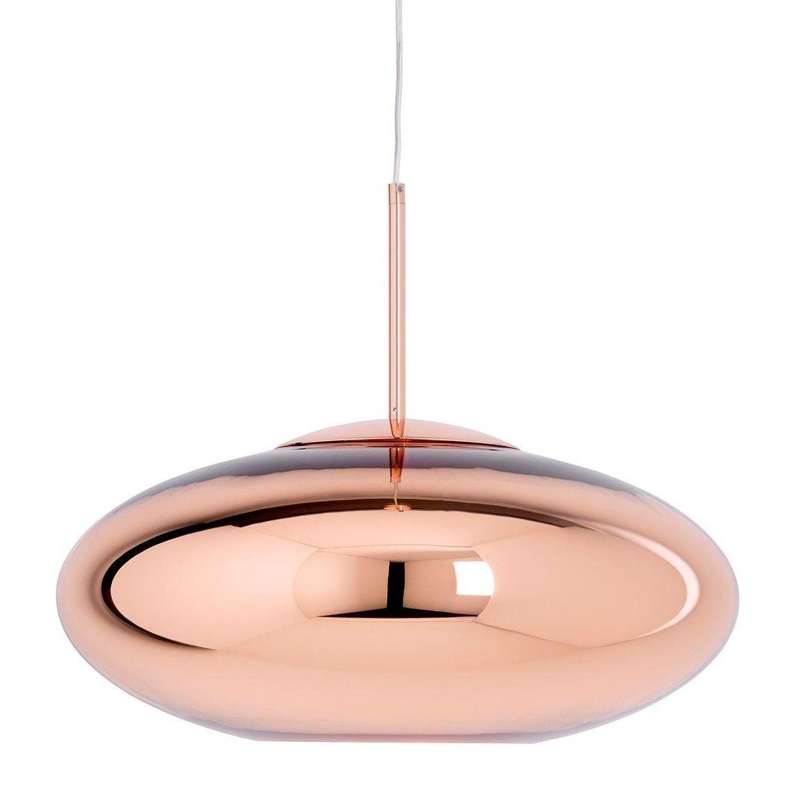 Copper Wide Suspension Lamp Tom Dixon Copper Pendant Lights Copper Glass