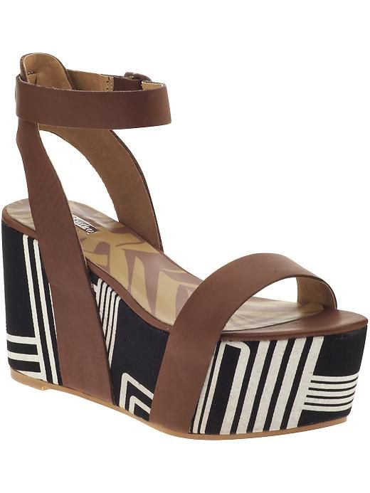 Lyon High Wedge Sandals / Matiko {digging the pattern on the bottom of this shoe}