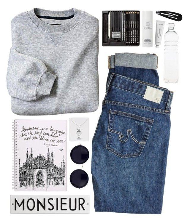 """je ne sais pas"" by blueberrypanda ❤ liked on Polyvore featuring мода, AG Adriano Goldschmied, Oskia, Seletti, Rosanna, Byredo, Dogeared, Clips и The Row"