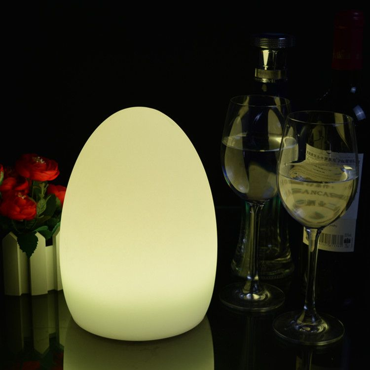 Small egg shaped led table lamp 15x22cm | Cordless lamps ...