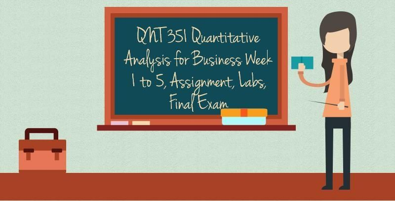 Qnt  Quantitative Analysis For Business
