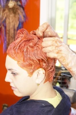 Food coloring hair dye wash out