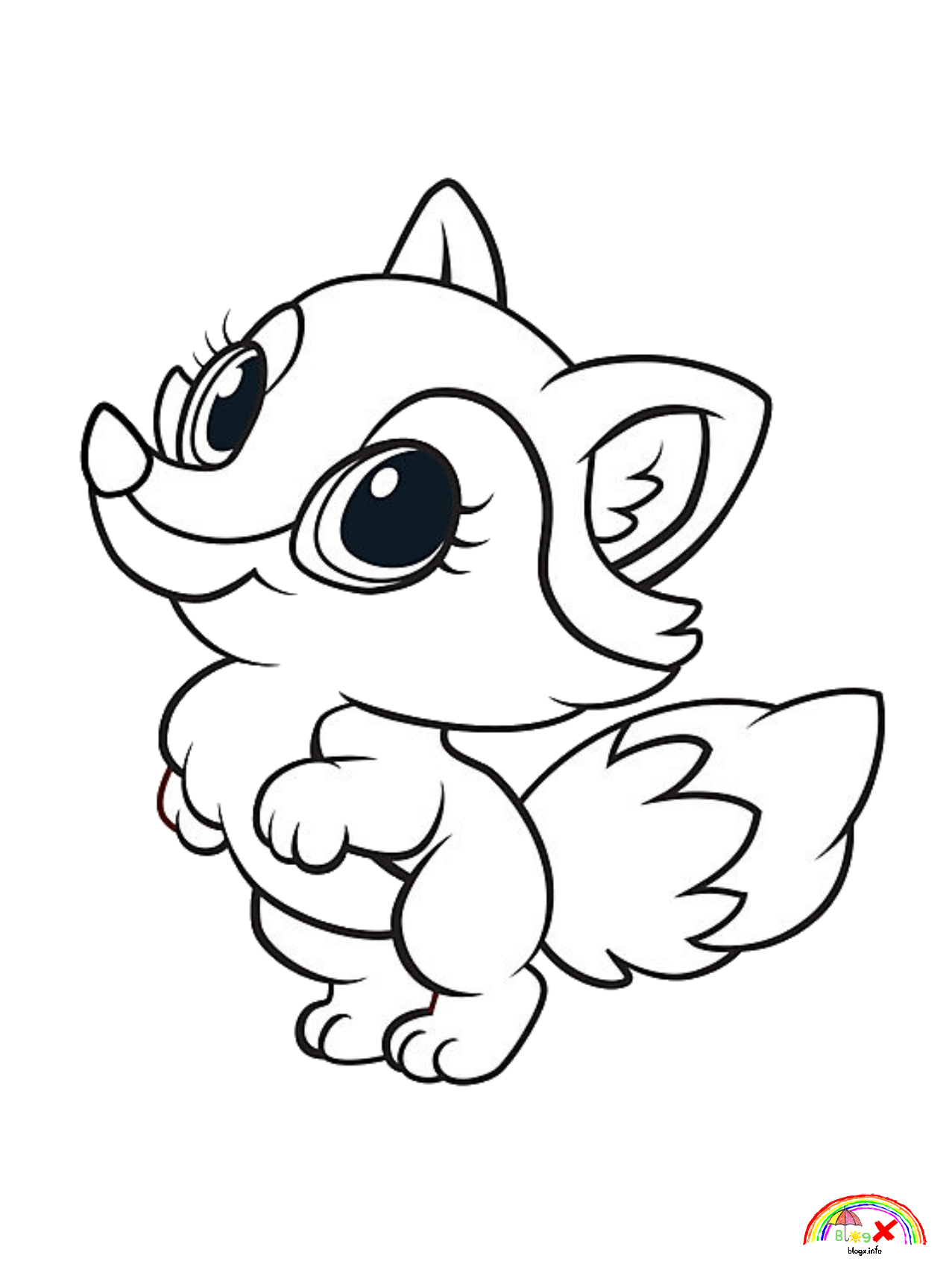 Free download collection of cute baby fox coloring pages
