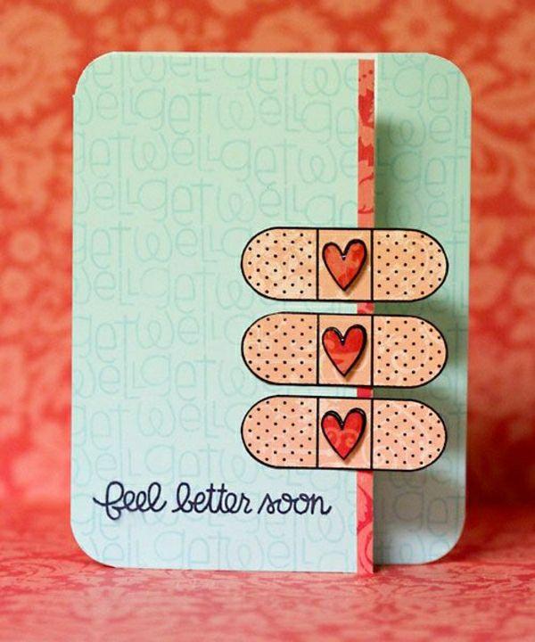 get well soon basteln mit papier karten selber machen diy karten basteln sch ne originelle ideen. Black Bedroom Furniture Sets. Home Design Ideas