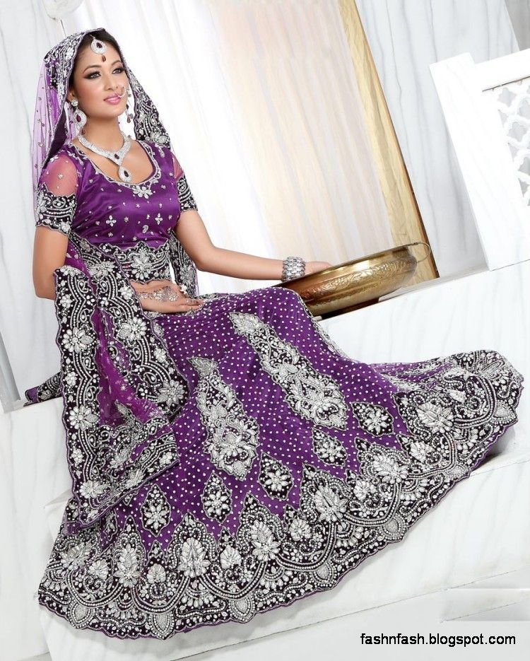 Purple Indian Wedding Lengha