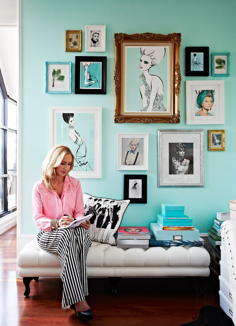 Lovely Tiffany blue studio of Megan Hess, fashion illustrator. | Adore Magazine
