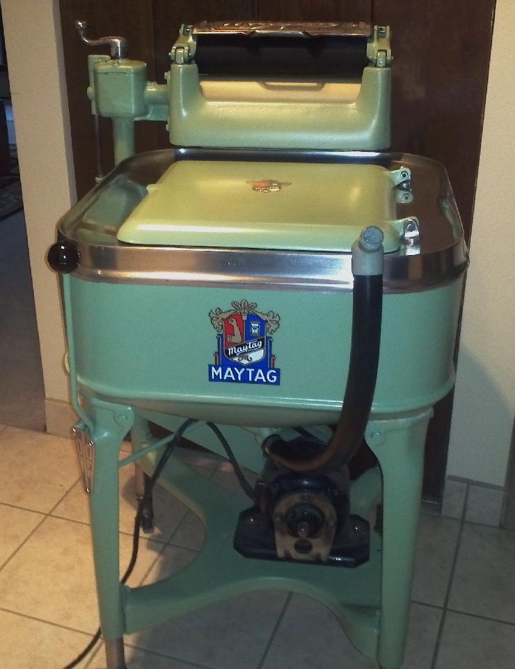 Maytag Model 30 Wringer Washer 1935 Fully Restored Including Authentic Reproduction Decals Maytag Wringer Washer Vintage Washing Machine