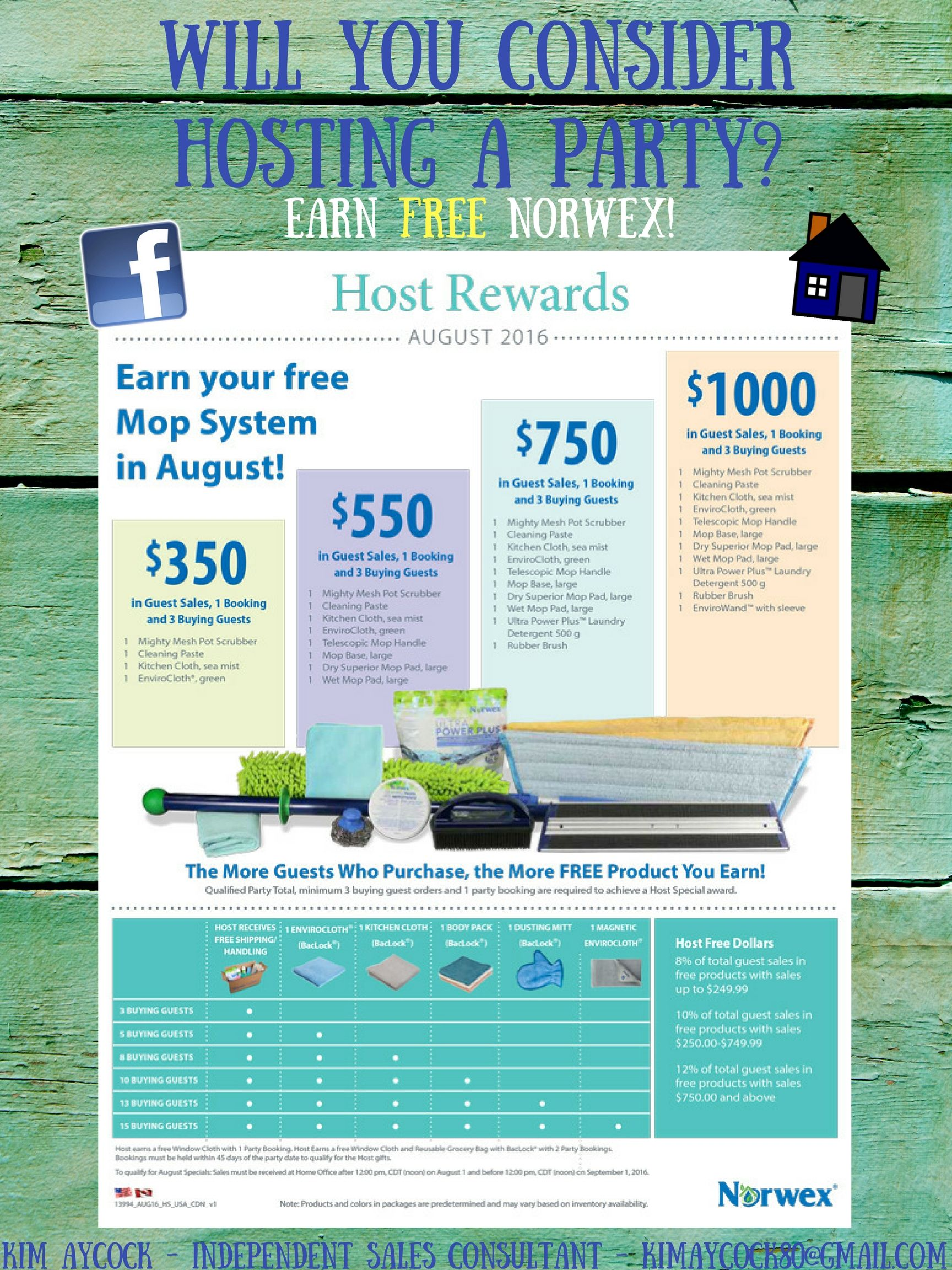 Host a party and get free Norwex to try! :) Yes, it\'s a newer ...