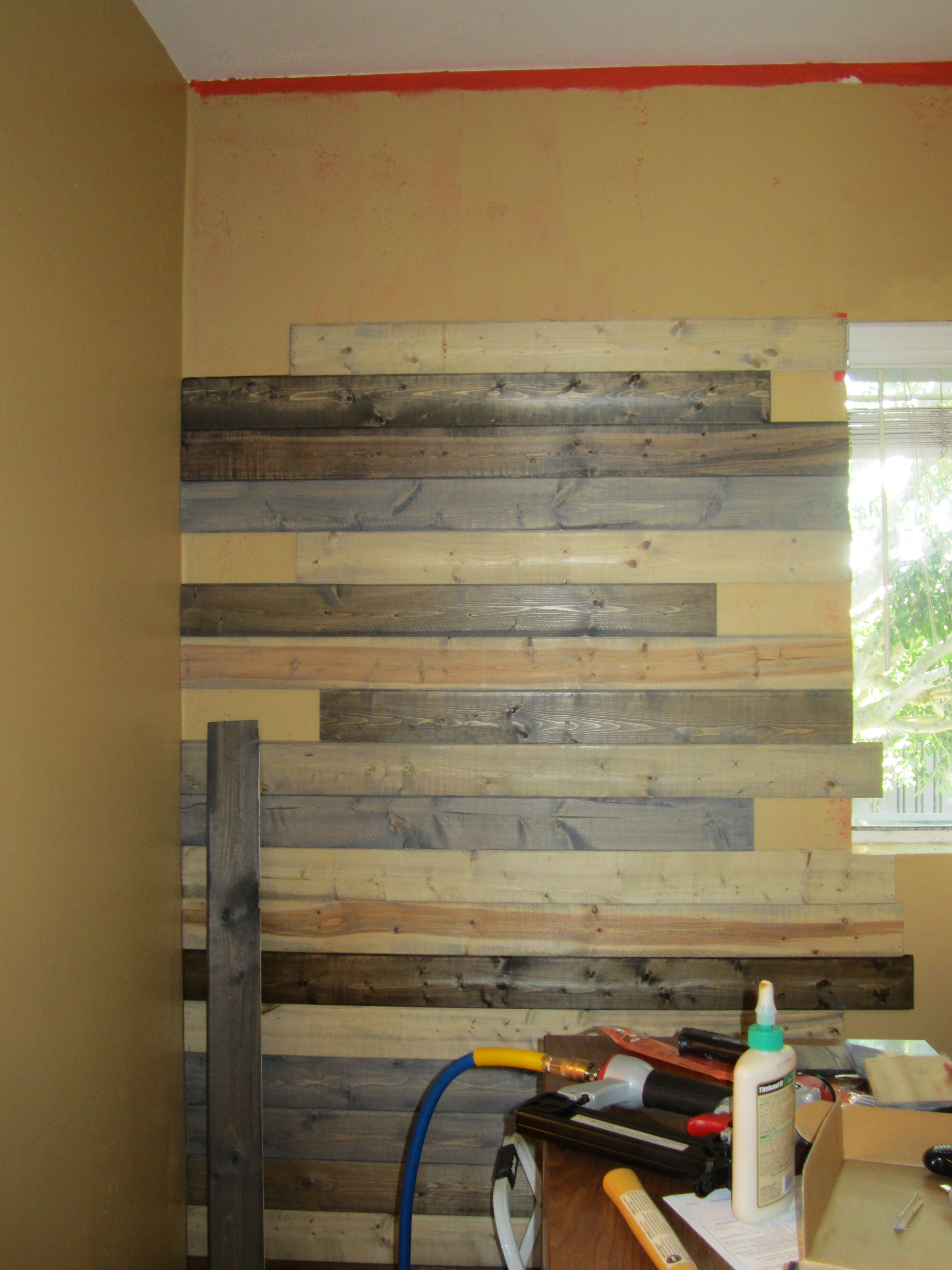 Create A Faux Wood Pallet Wall Wendy James Designs Wood Pallet