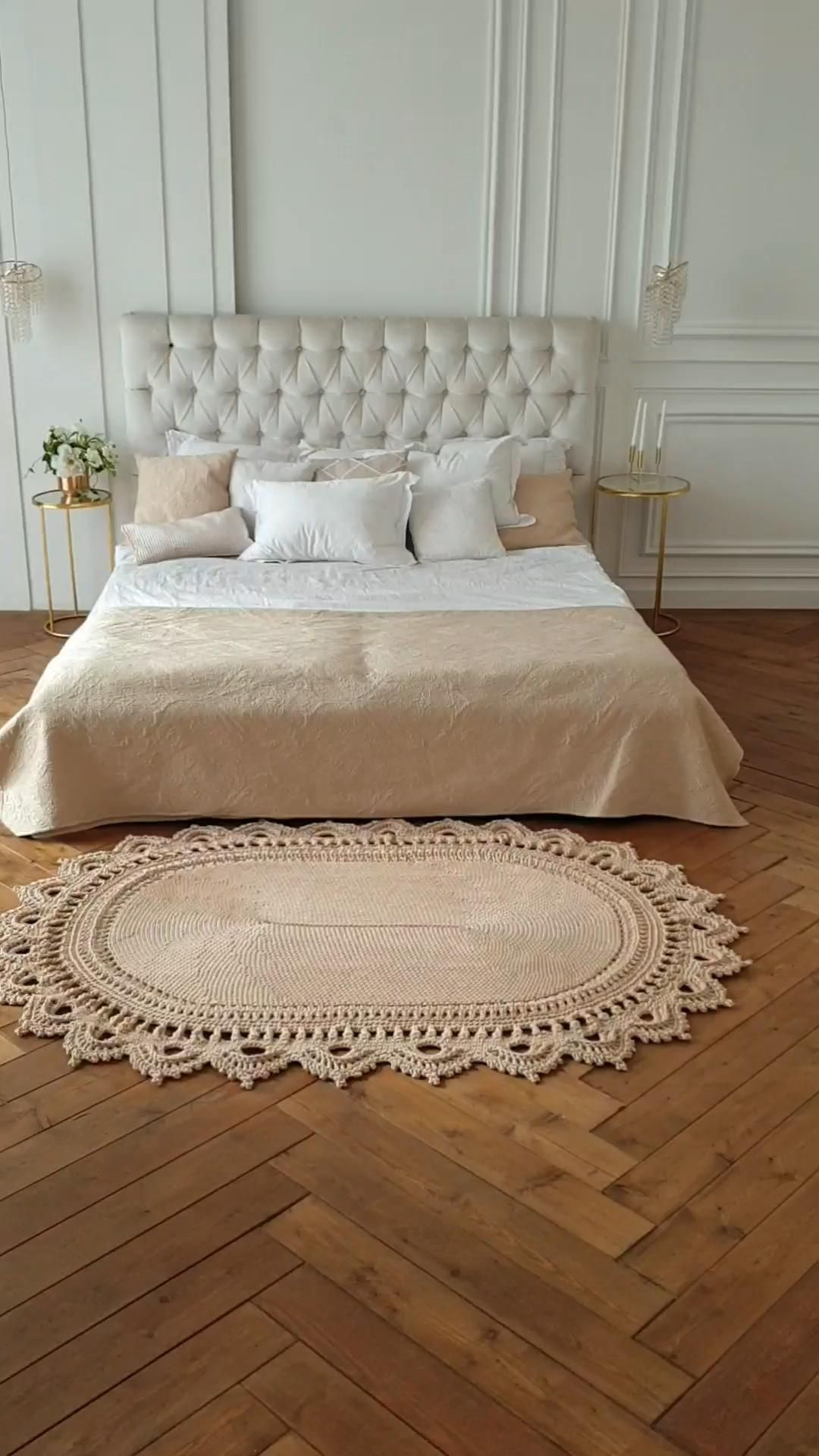 Cotton Lattice Area Rug Carpet Indoor Outdoor Rugs Woven Washable Rugs In 2020 Crochet Rug Crochet Rug Patterns Doily Rug