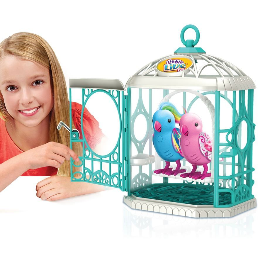 Little Live Pets Tweet Talking Birds Cage gives your pet