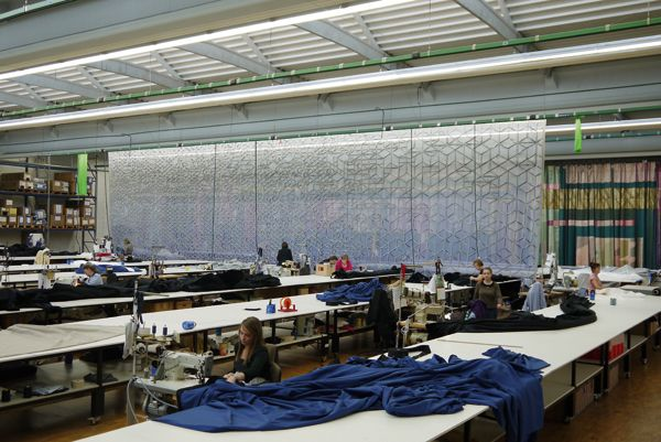 Curtains Ideas curtains madison wi : Gerriets-made Art Curtain adorns Chazen Museum of Art in Madison ...