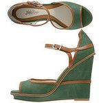 Sky high green wedge for summer