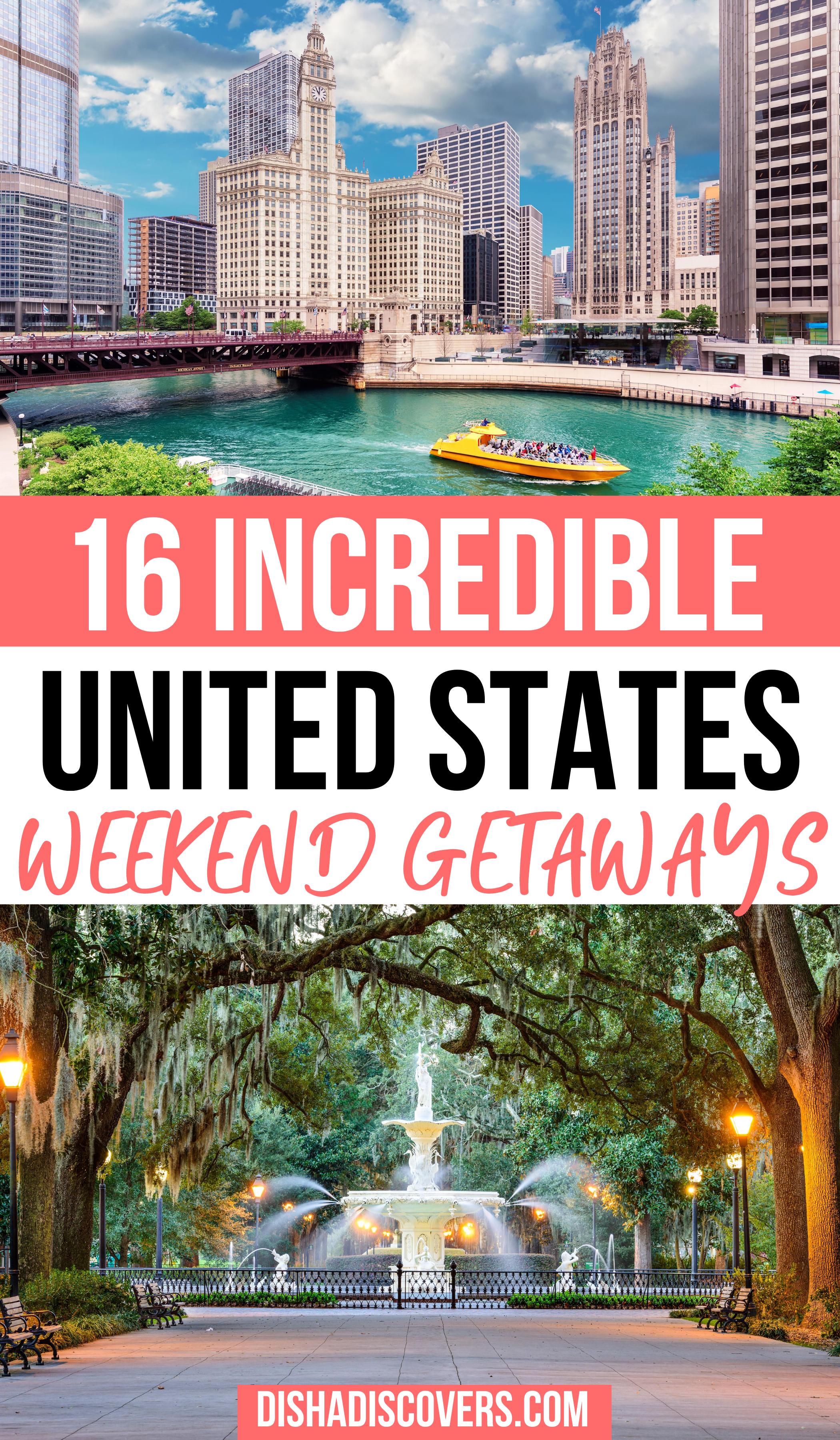 Usa Weekend Trips 25 Amazing Destinations For A Short Getaway Usa Travel Destinations Places To Travel Travel Usa