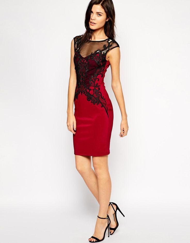 a931467c lipsy red and black lace dress – Little Black Dress | Black Lace ...