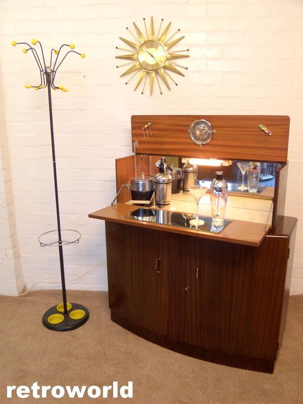 50s 60s retro vintage turnidge cocktail drinks cabinet home bar available from retroworld www retroworldonline co uk