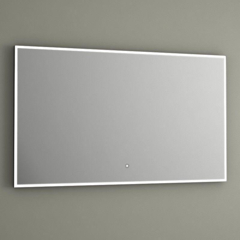 Miroir lumineux led salle de bain anti bu e 100x60 cm for Miroir salle de bain led