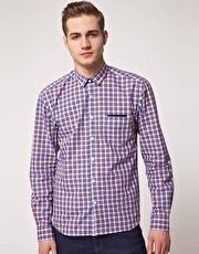 Selected Jade Small Check Long Sleeve Shirt