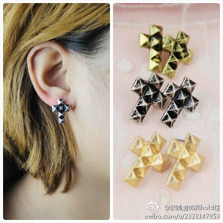 Accessories fashion rivet punk cross female earrings stud earring TBB-1.99 on AliExpress.com. $1.04