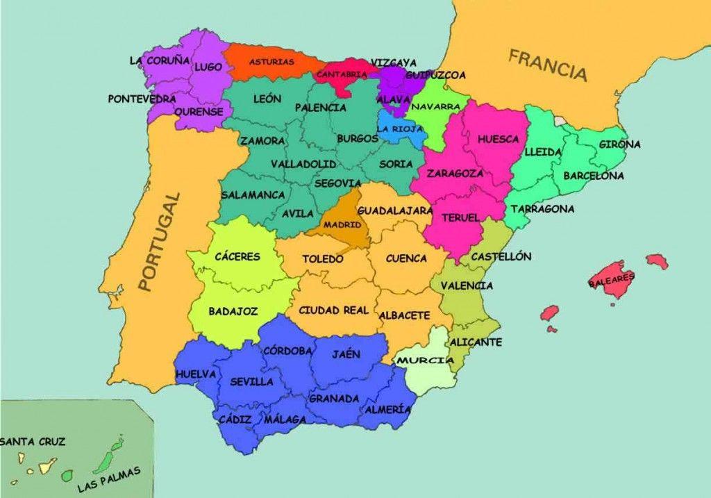 Mapa Provincias España Interactivo.Mapa Interactivo De Las Provincias De Espana Cudi