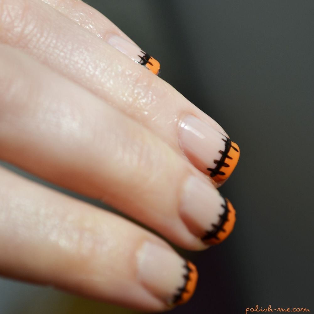 A French manicure for Halloween | Halloween nails ...