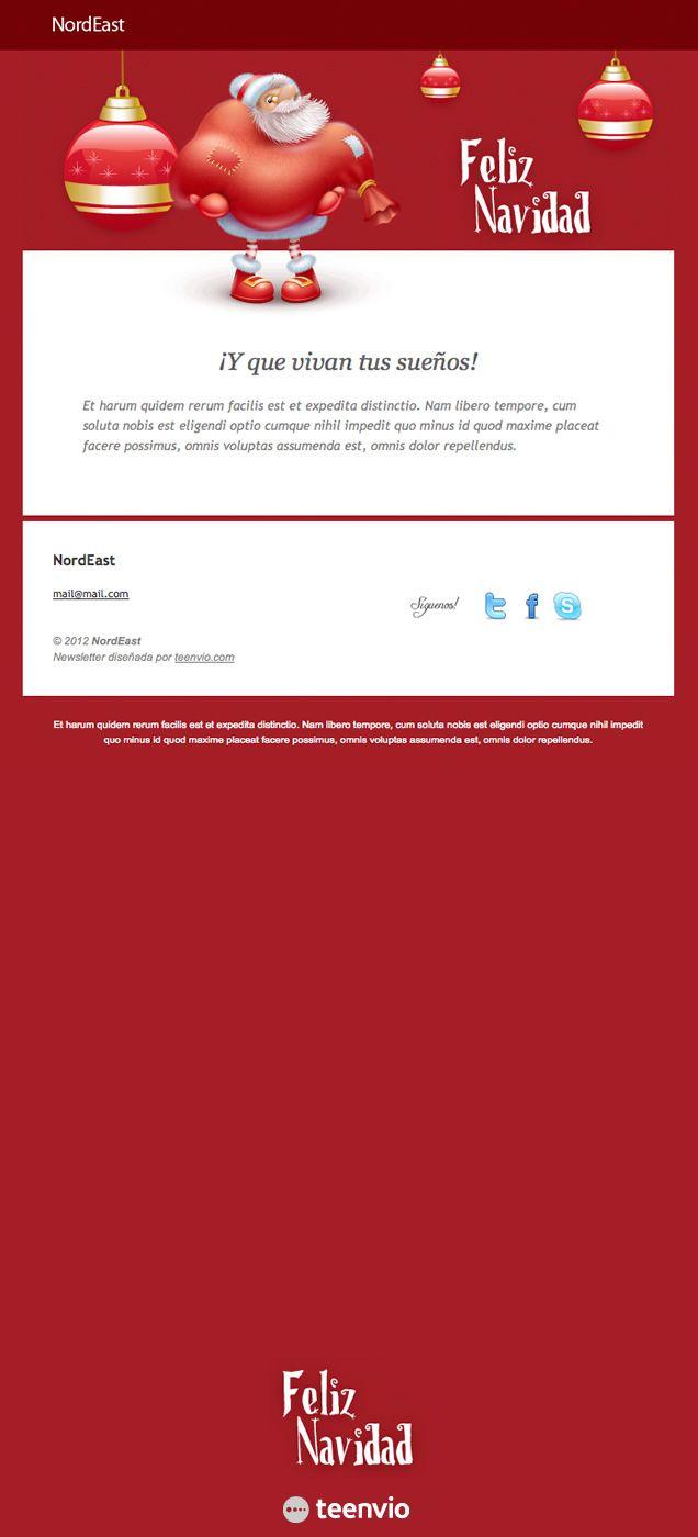 Felices Navidades, plantilla HTML gratis para Newsletter en email ...