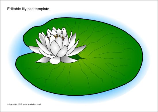 I Caught A Fish Alive Jump Frog Jump Editable lily pad template - editable leaf template